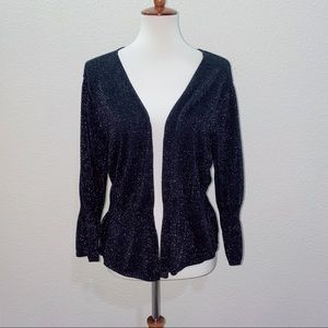 torrid Black and Silver Sparkly Cardigan Size 3 3X